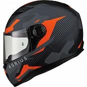 AGR Rage Tracker Matt Orange 51010-3003 mc hjälm