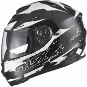 SHOX ALT TRG BLACK WHITE SOLVISIR 13855-5503 MC HJÄLM
