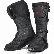 BLACK MX Enigma Black Motocross Boots (CE Level 2 Certified) 5225 cross stövlar