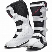BLACK MX Enigma White Motocross Boots (CE Level 2 Certified) 5225 cross stövlar
