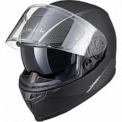 IMFRI BLACK Titan SV Solid Motorcycle MATT BLACK SOLVISIR 51723003 MC HJÄLM