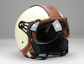 BNO PILOT MATT BEIGE BROWN JET MC HJÄLM