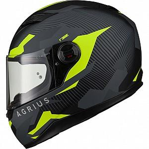 AGR Rage Tracker Matt Yellow 51010-3003 mc hjälm