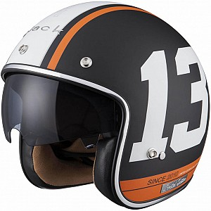 Limited Edition Black 13 Matt Black White Orange 5180-3003 mc hjälm