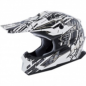 MX Force Race Shiver 143450104 Black cross hjälm