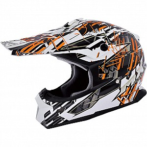 MX Force Race Shiver 143451904 Orange cross hjälm