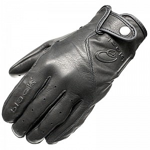 BLACK Static Leather Motorcycle 51030106 MC HANDSKAR