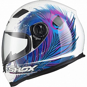 Shox Sniper Peacock Motorcycle BLUEPINK 130970303 MC HJÄLM