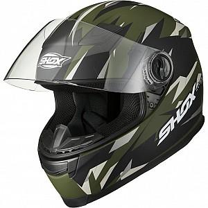 Shox Sniper Predator Matt Green 146500403 mc hjälm