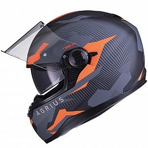 AGRIUS Rage Tracker SV Sunvisor Matt Orange mc hjälm 4803