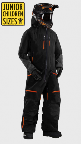 JUNIOR / KID SNOWPEAK ORANGE OVERALL ATV/SNOWMOBILE CE ALLVÄDERSSTÄLL