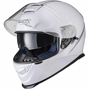 SHOX ASSAULT EVO WHITE BLANK GLOSS SOLVISIR 1003 MC HJÄLM