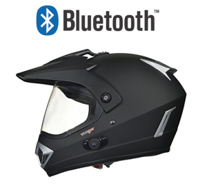 BLUETOOTH MATT BLACK RX960 CROSS HJÄLM