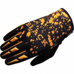 Black Splat Motocross Gloves Orange 1906 crosshandskar