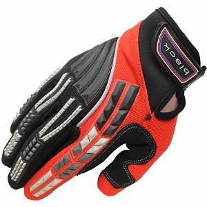Black Claw Motocross Gloves RED 5234-0206 Motocross HANDSKAR