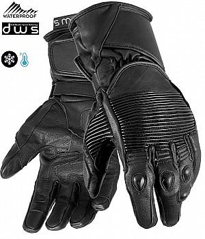 DUAL WEATHER RETRO BLACK VINTAGE KEV01 WATERPROOF MC HANDSKAR