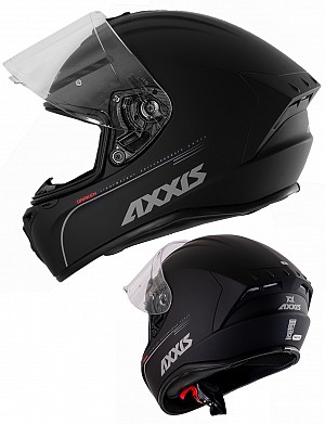 AXXIS DRAKEN MATT BLACK AERO INTEGRAL MC HJÄLM