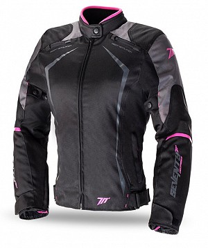 LADY SD-JR49 BLACK/PINK SEVENTY DEGREES WATERPROOF MC JACKA