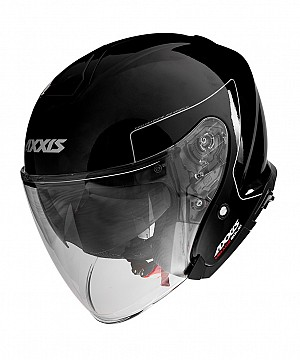 AXXIS SV  OF504SV MIRAGE SV SOLID A1 BLACK BRILLO JET MC HJÄLM